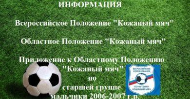Информация по турниру «Кожаный мяч»